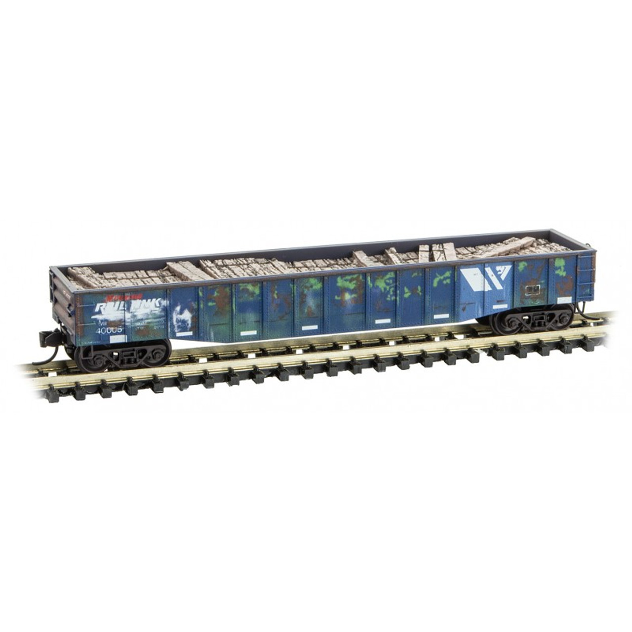 993 02 030 MICRO TRAINS 93302030 MRL Montana Rail Link Tie Loader 3-Pack  (SCALE=N)  PART # 489-99302030