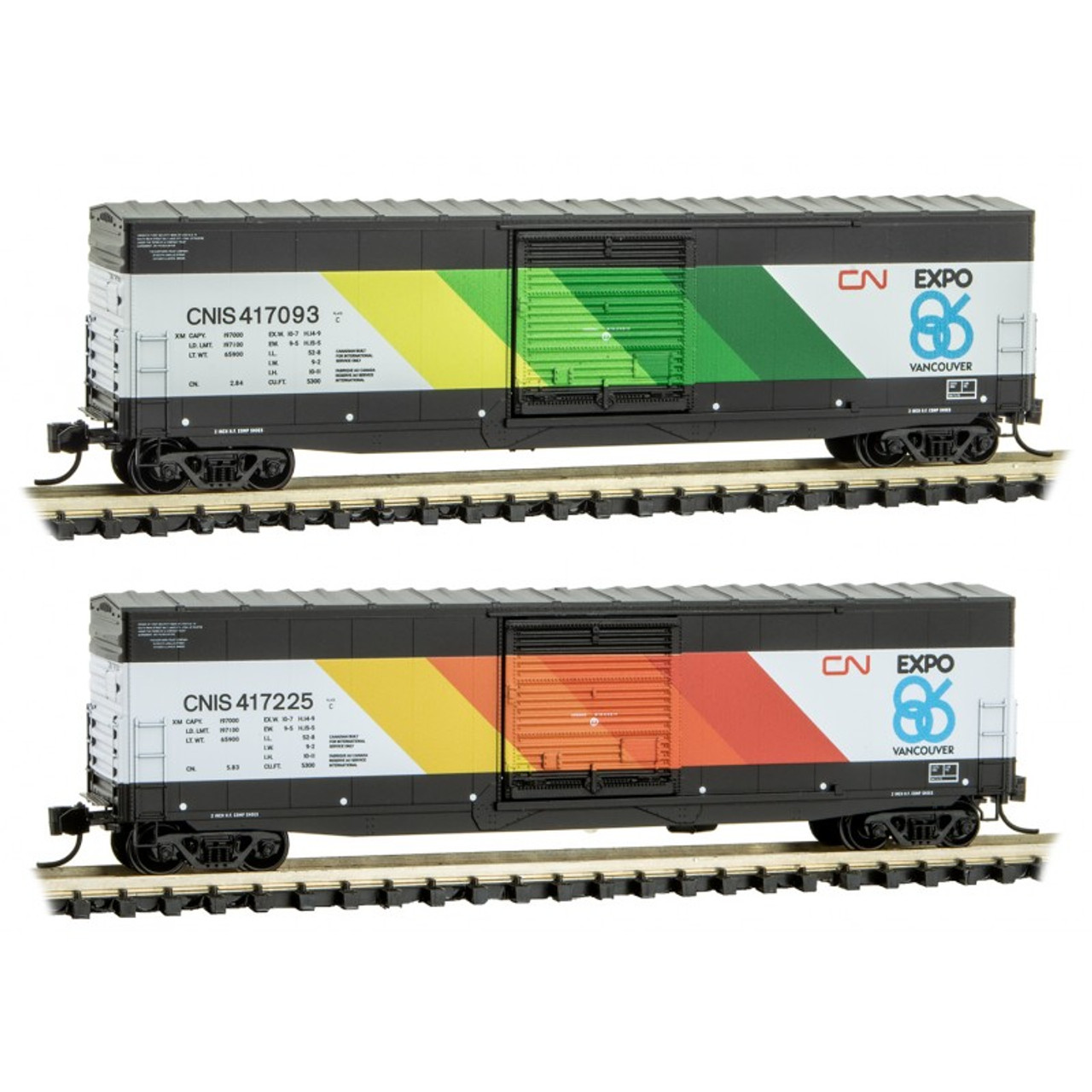 MICRO TRAINS 993 01 960 CN - Canadian National EXPO 2-Pack  (SCALE=N)  PART # 489-99301960