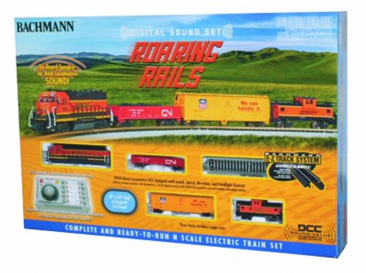 Bachmann N Scale Train Set 24132 - Roaring Rails Set DCC & Sound (SCALE=N) Part#=160-24132