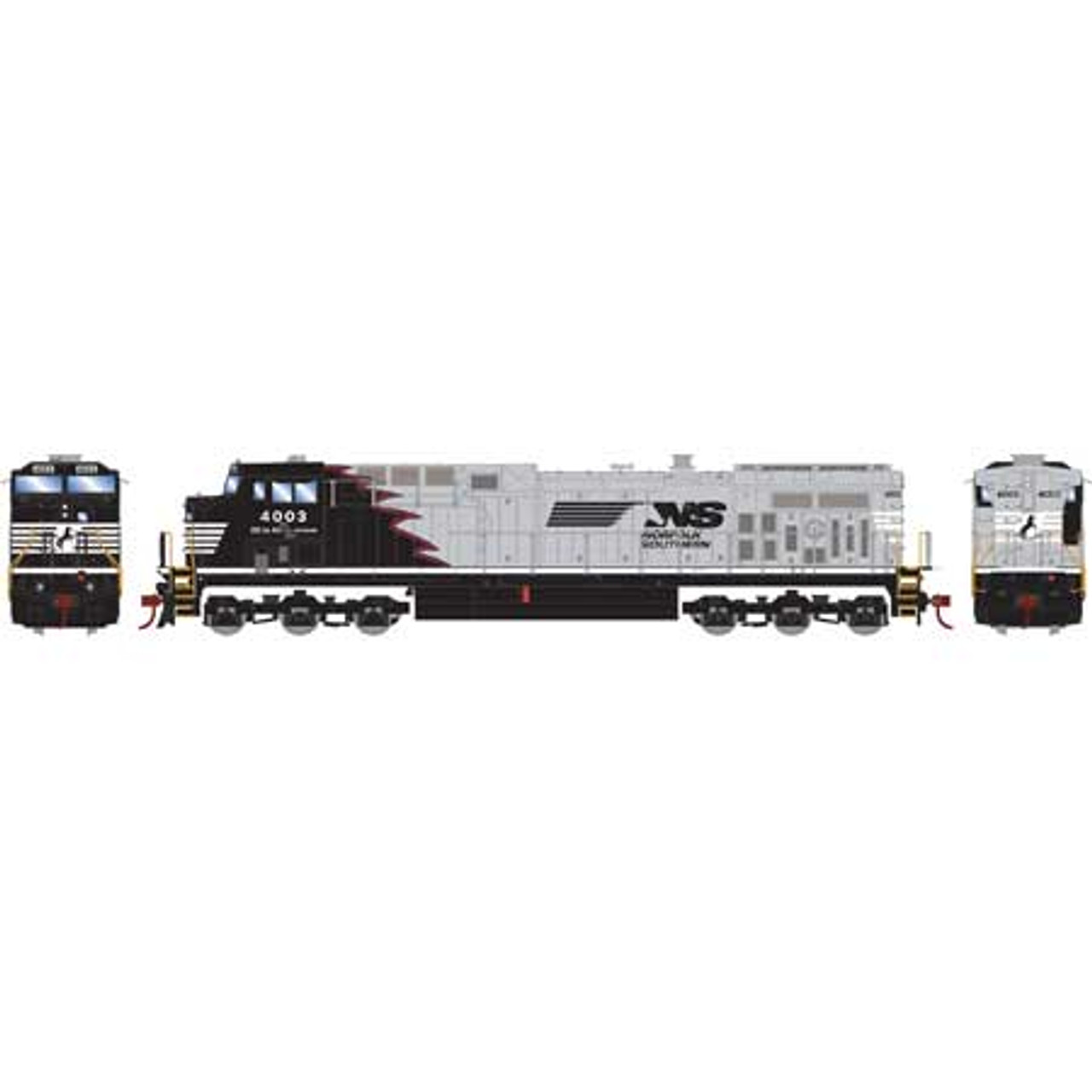 Athearn Roundhouse RND77704 AC4400CW NS - Norfolk Southern (Black Mane Red Outline) #4003 DCC Ready  (SCALE=HO)  Part #RND77704