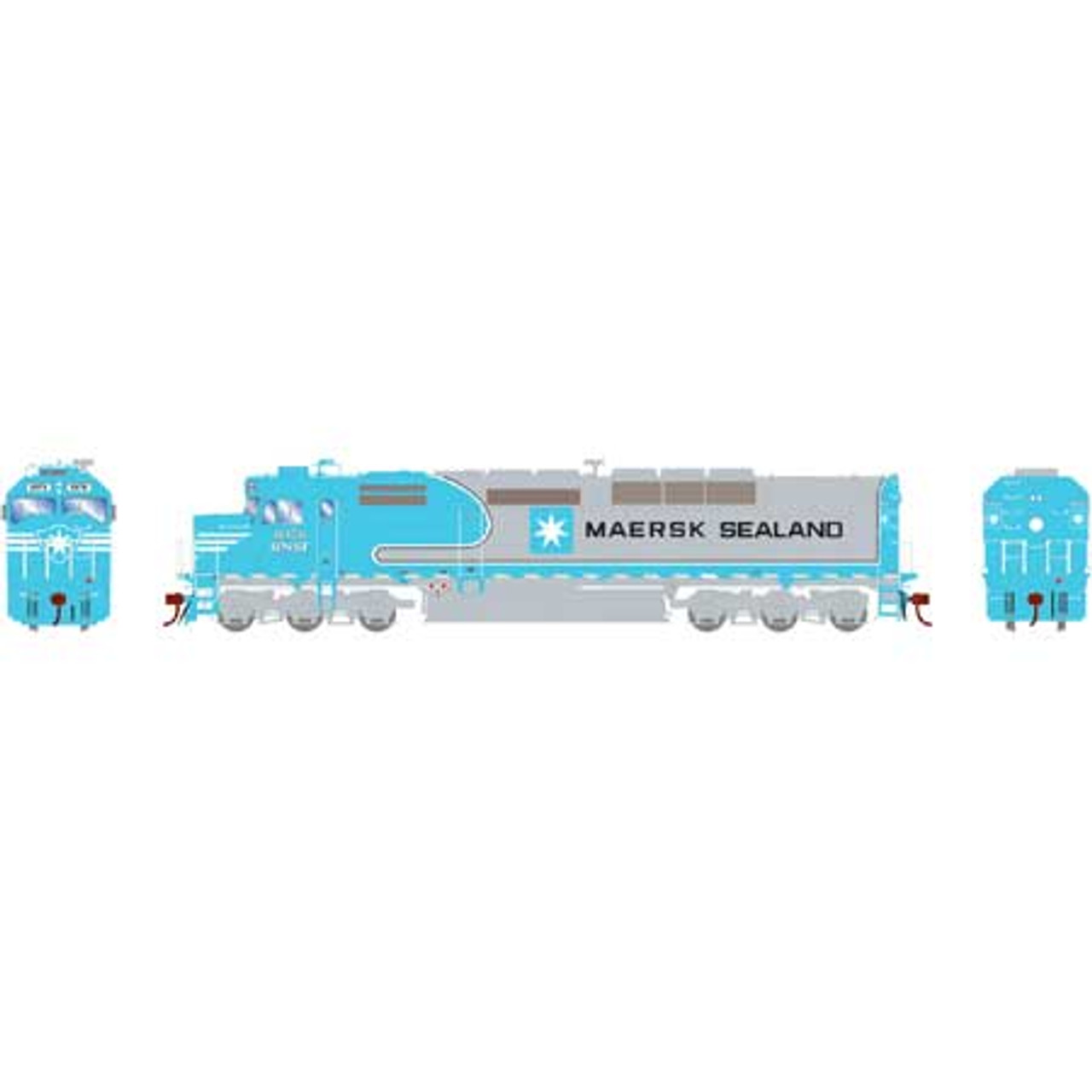Athearn ATHG63991 SDP40F (SDF40-2) BNSF - Maersk Sealand #6976 with DCC & Sound Tsunami2  (SCALE=HO)  Part #ATHG63991
