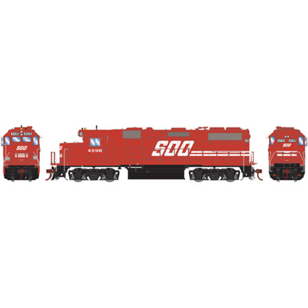 Athearn ATHG65499 GP39-2 Phase II Soo - Soo Line #4598 with DCC & Sound Tsunami2  (SCALE=HO)  Part #ATHG65499