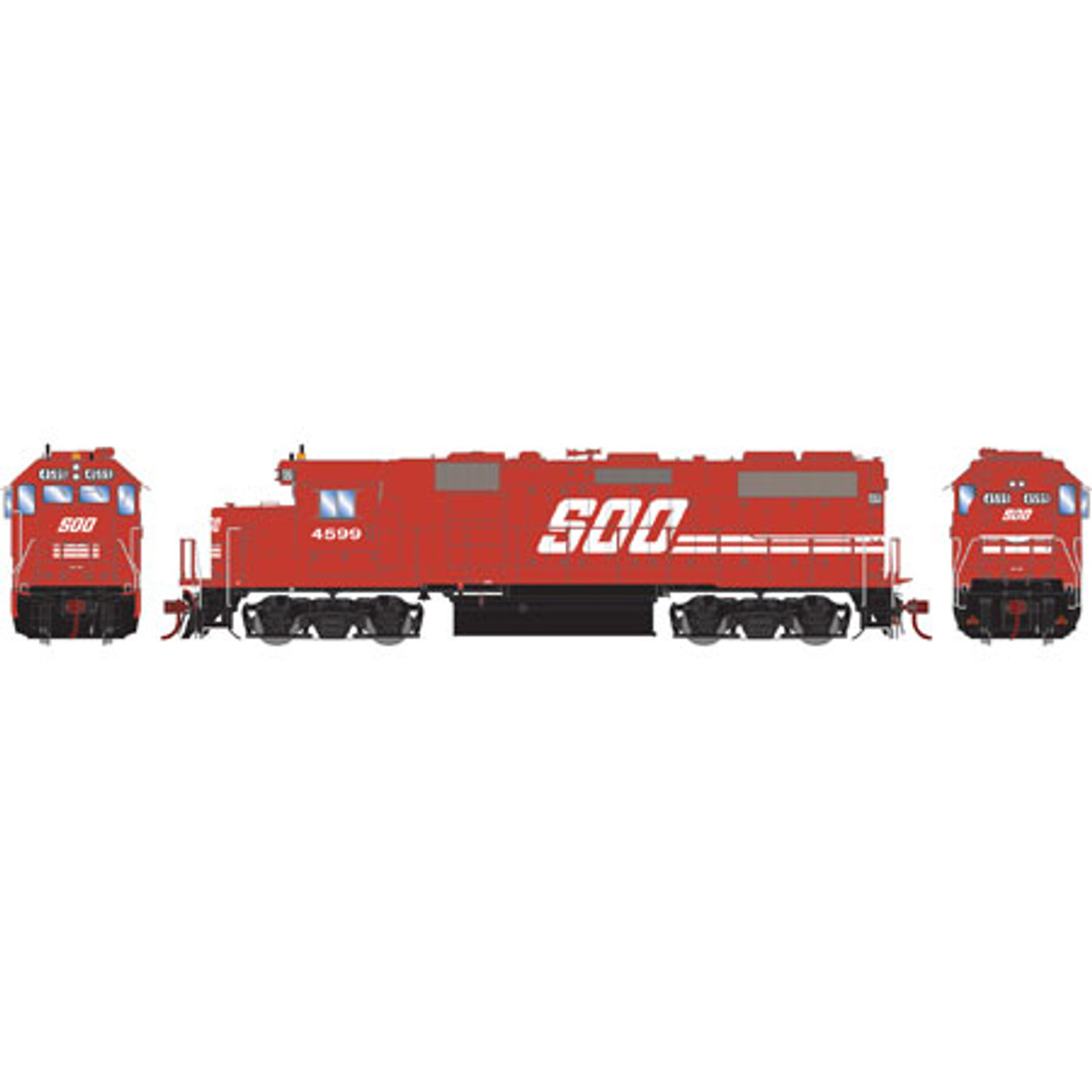 Athearn ATHG65500 GP39-2 Phase II Soo - Soo Line #4599 with DCC & Sound Tsunami2  (SCALE=HO)  Part #ATHG65500