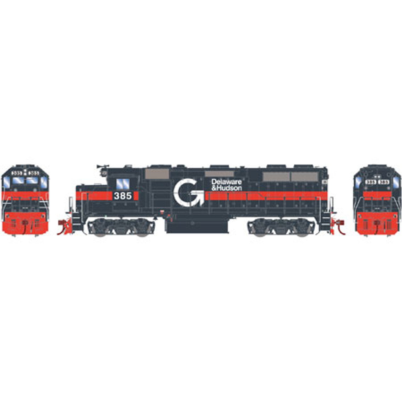 Athearn ATHG65607 GP39-2 Phase I D&H - Guilford #385 with DCC & Sound Tsunami2  (SCALE=HO)  Part #ATHG65607