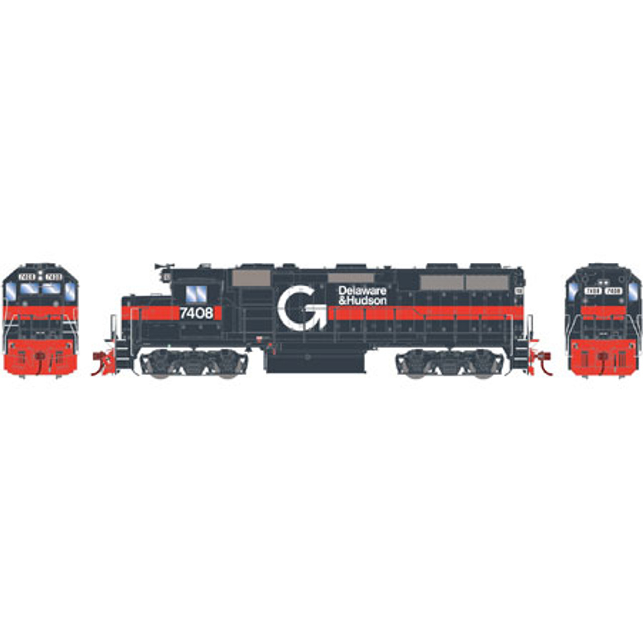 Athearn ATHG65608 GP39-2 Phase I D&H - Guilford #7408 with DCC & Sound Tsunami2  (SCALE=HO)  Part #ATHG65608