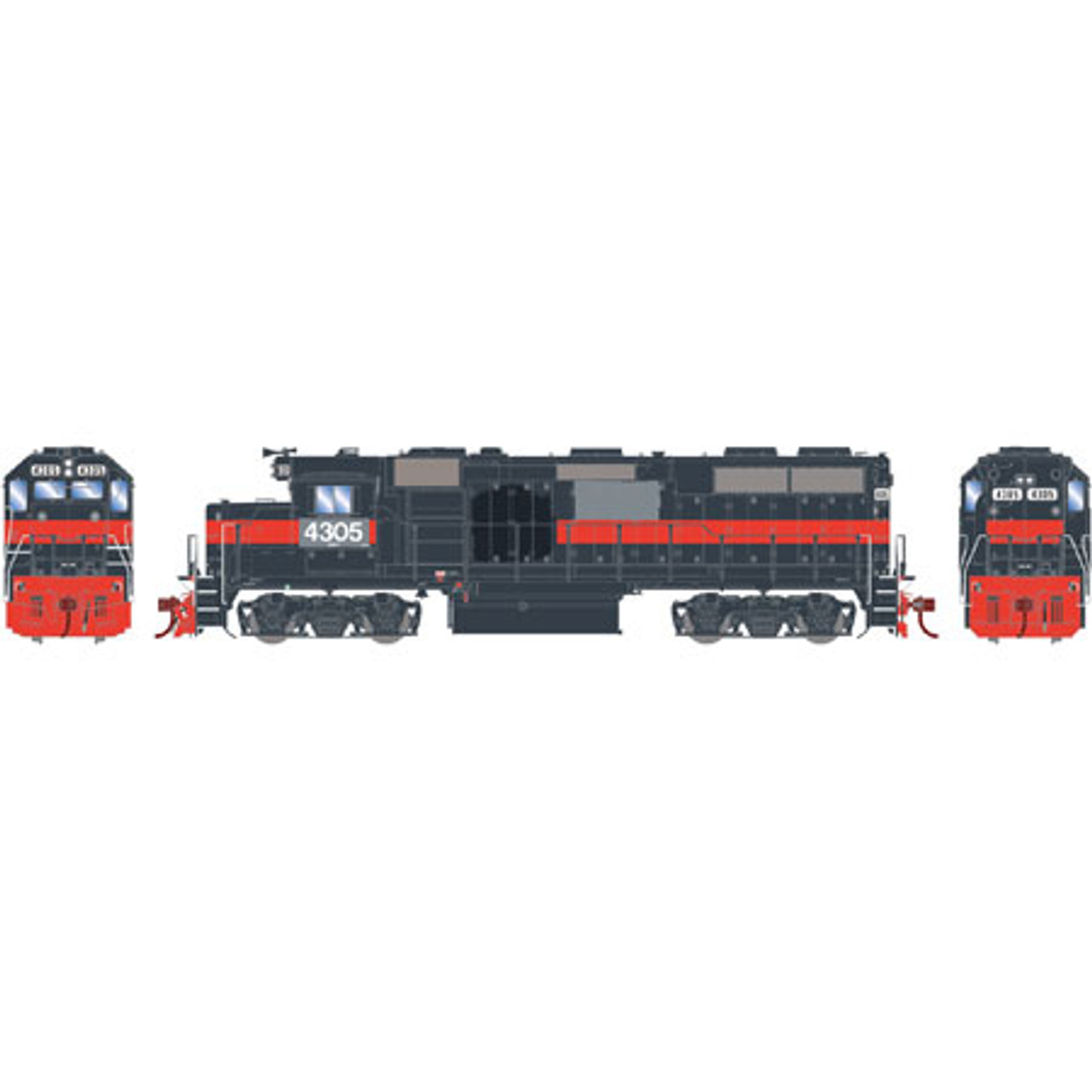 Athearn ATHG65609 GP39-2 Phase I CSX - ex-Guilford #4305 with DCC & Sound Tsunami2  (SCALE=HO)  Part #ATHG65609