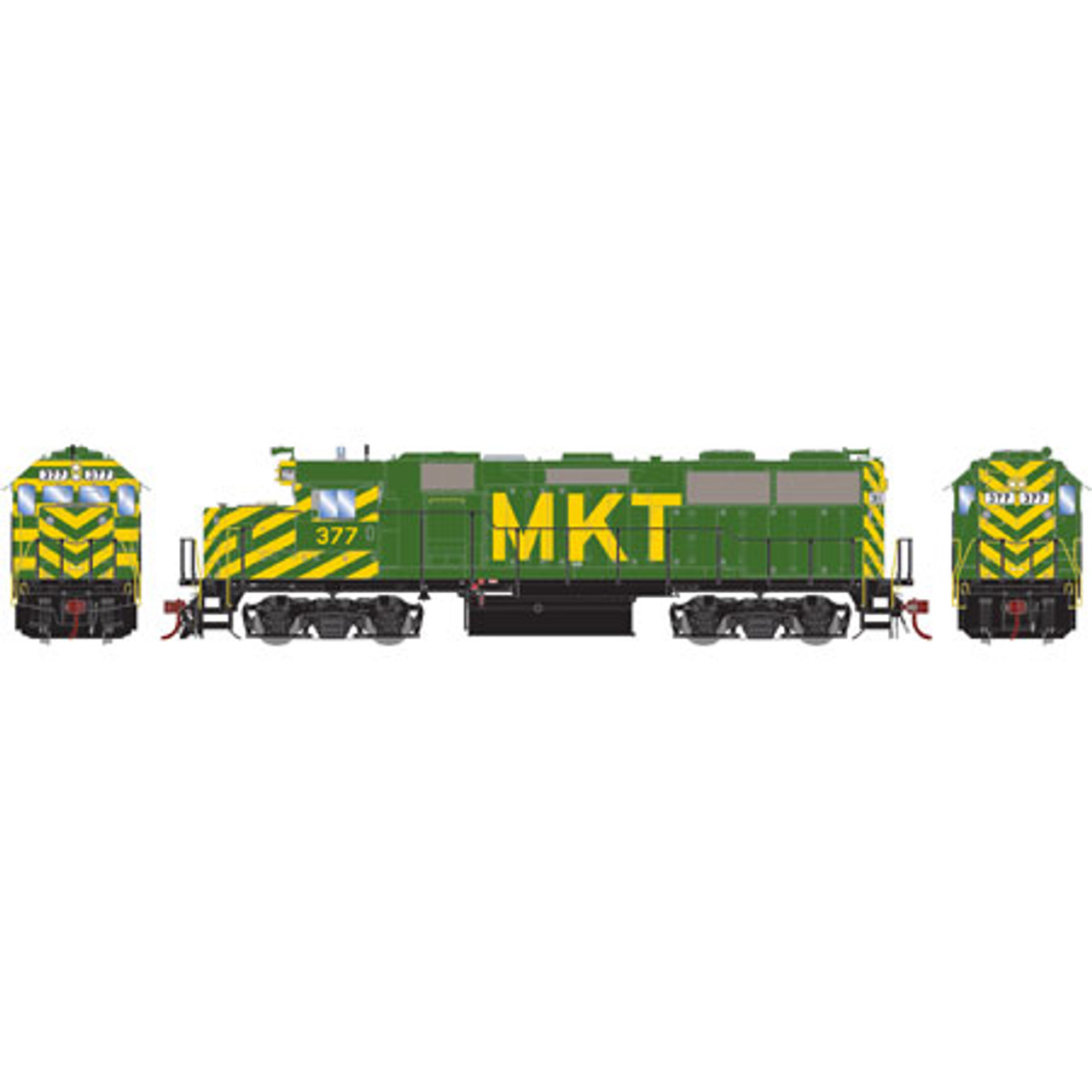 Athearn ATHG65618 GP39-2 Phase III MKT - Missouri Kansas Texas #377 with DCC & Sound Tsunami2  (SCALE=HO)  Part #ATHG65618