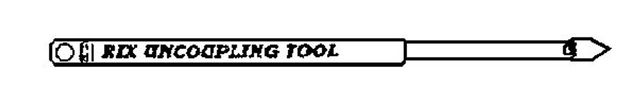 Rix Pick N Scale Uncoupling Tool -- pkg(2)   (Scale=N)Part#628-24