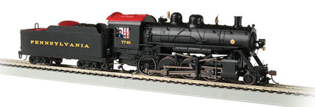 Bachmann 57902 2-8-0 Steam Pennsylvania Railroad 7748 (black, Tuscan) Consolidation -Sound Value Bachmann Industries (SCALE=HO) Part#=160-57902