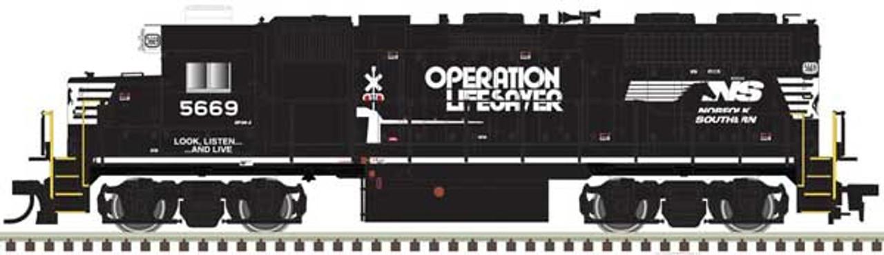 ATLAS 40004139 GP38 - NS - Norfolk Southern Operation Lifesaver #5669 DCC & Sound (SCALE=N) Part # 150-40004139
