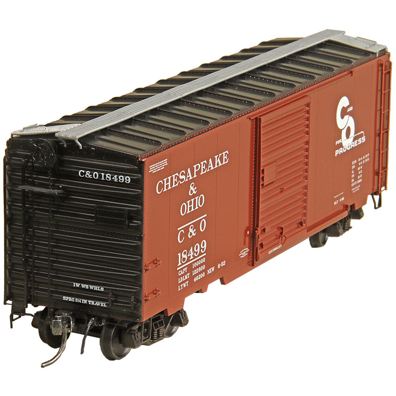 Kadee 5023 40' Boxcar C&O - Chesapeake & Ohio #18499  (HO Scale) Part # 380-5023