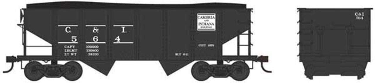 Bowser 37970 - GLa 2 Bay Hopper - C&I - Cambria & Indiana #596 (Scale=N) Part #6-37970
