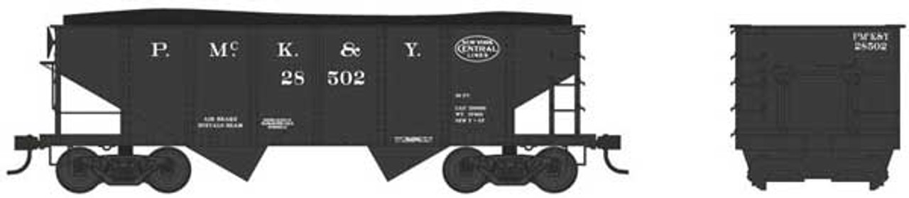 Bowser 38000 - GLa 2 Bay Hopper - PM&Y - Pittsburgh McKeesport & Youghiogheny #28544 (Scale=N) Part #6-38000