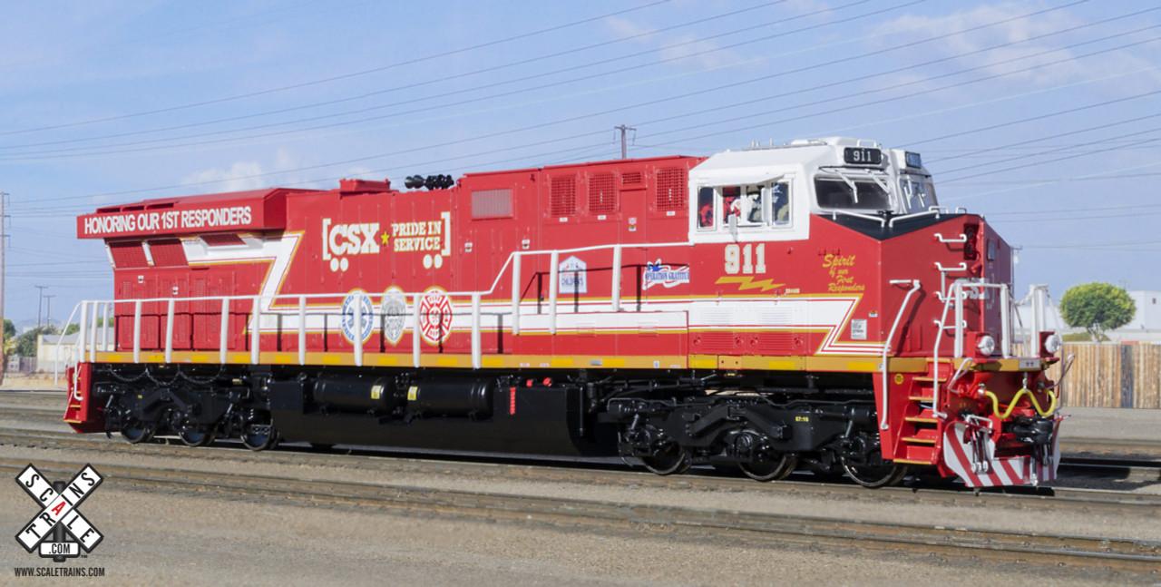 Scaletrains {SXT32395} GE ES44AH - CSX - First Responders #911 - ESU v5.0 DCC & Sound (SCALE=HO) Part #8003-SXT32395