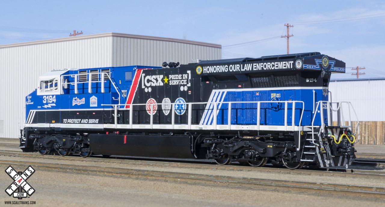 Scaletrains {SXT32399} GE ES44AH - CSX - Law Enforcement #3194  - Red & Blue Ditch Lights- ESU v5.0 DCC & Sound (SCALE=HO) Part #8003-SXT32399