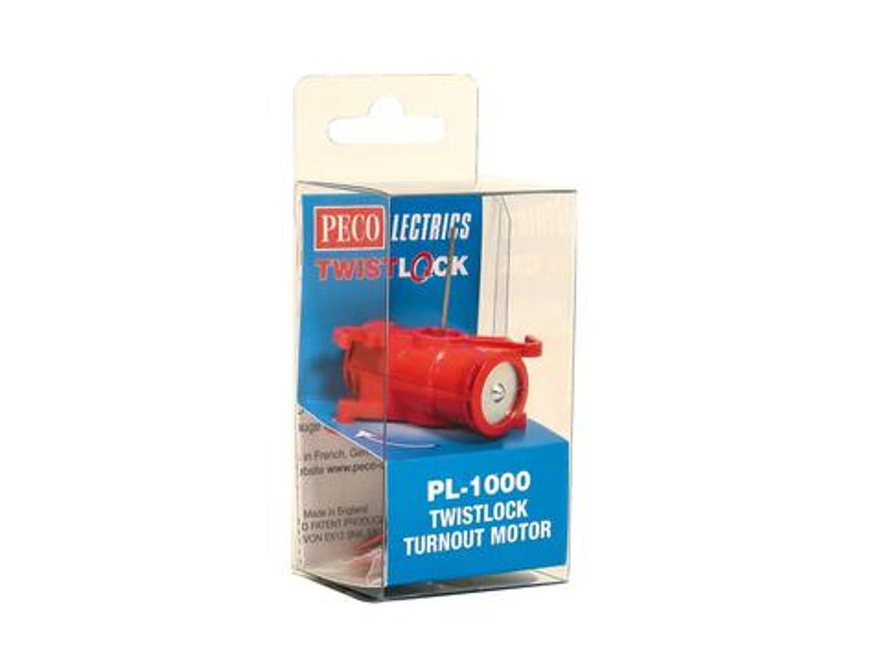 Peco PL-1000 Twistlock Turnout Motor N, HO or O Scale