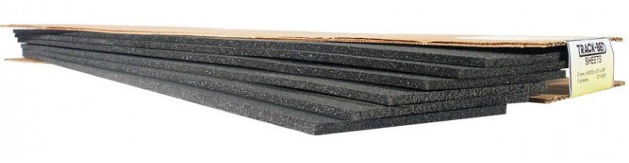 """Woodland Scenics 1460 Track-Bed(TM) Roadbed Material -- 3mm x 3-1/4"""" x 2' Sheets N Scale"""