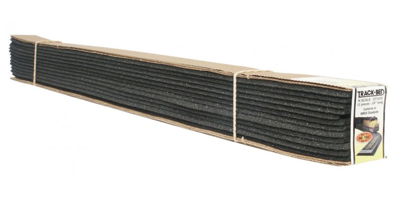 Woodland Scenics 1472 Track-Bed Roadbed Material -- Standard Track Profile pkg(12) N Scale