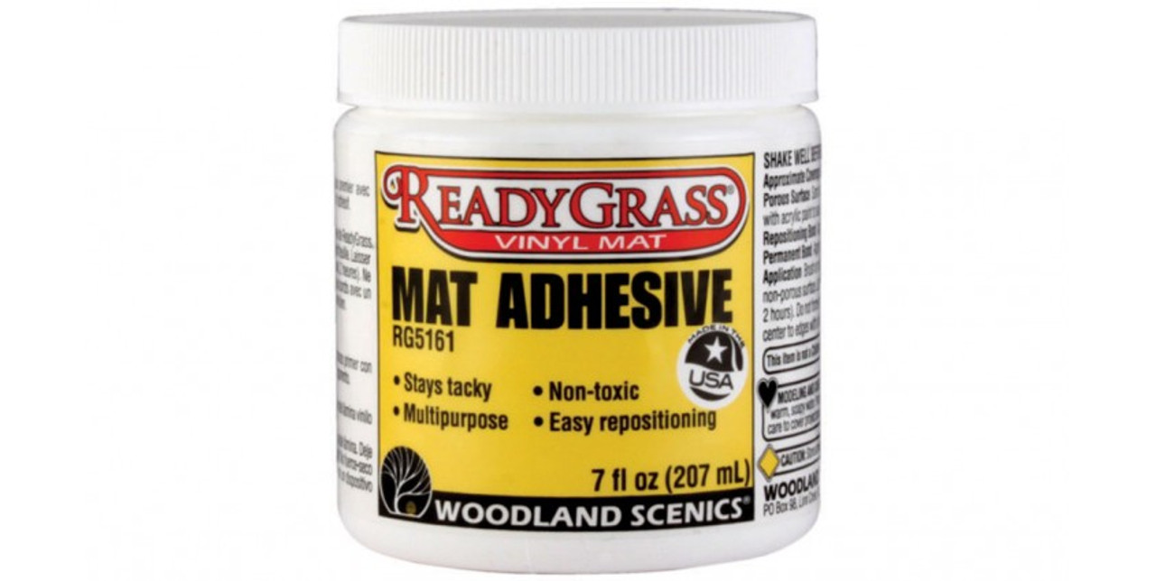 Woodland Scenics 5161 ReadyGrass(TM) Mat Accessories -- Mat Adhesive - 7oz  207mL A Scale