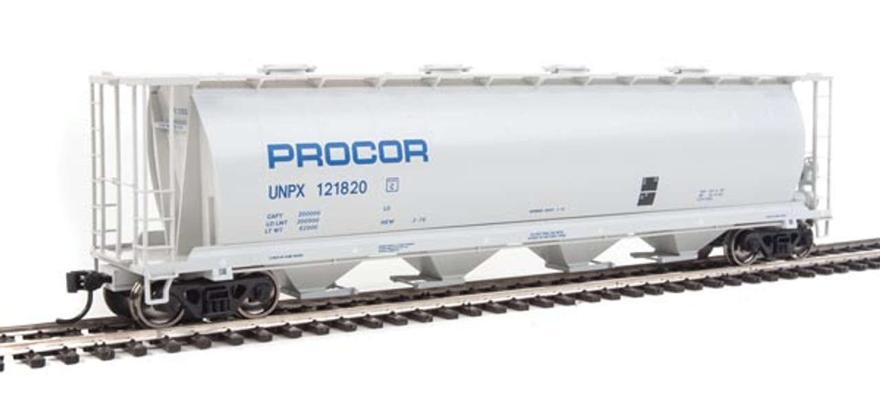 Walthers 910-7827 UNPX - PROCOR #121820 59' Cylindrical Hopper HO Scale
