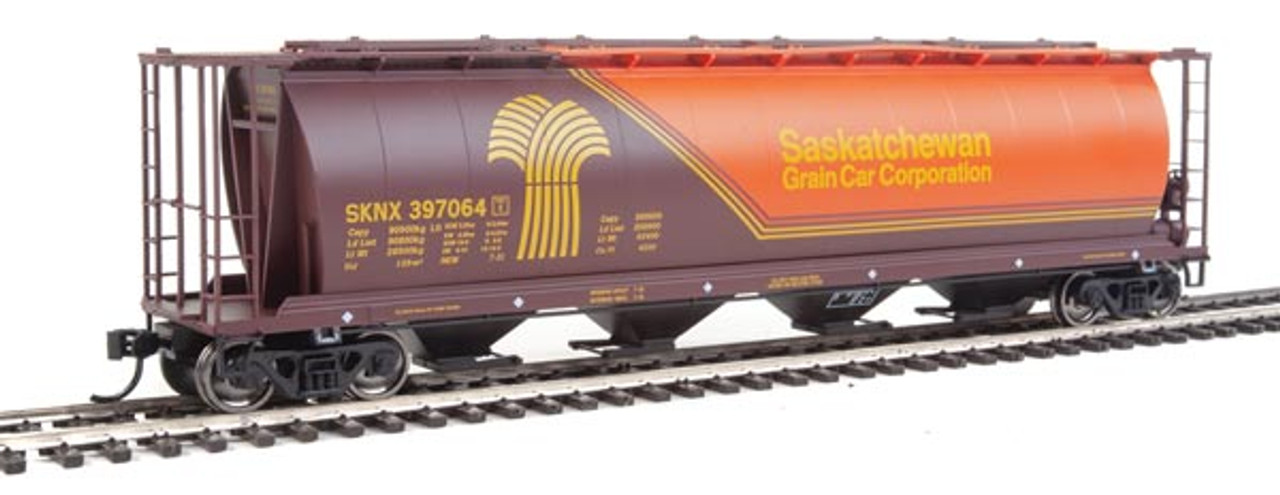 Walthers 910-7829 SKNX - Saskatchewan Grain Car Company #397064 59' Cylindrical Hopper HO Scale