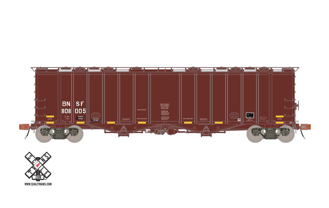 Scaletrains {SXT31995} GATC 4180 Airslide Covered Hopper BNSF - Buffer Service #808005 HO Scale
