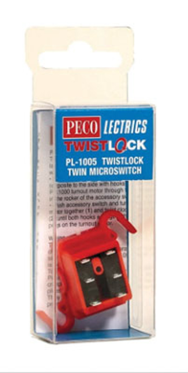 Peco PL-1005 TwistLock Turnout Micro Switch only - PECOLectrics, HO or O Scale # PCO PL-1005