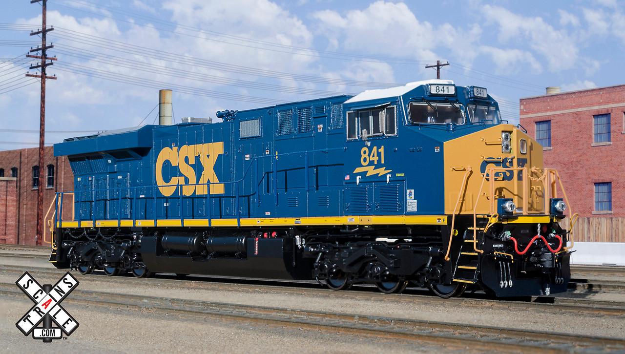 Scaletrains {SXT32588} GE ES44AH - CSX #841 ESU v5.0 DCC & Sound HO Scale