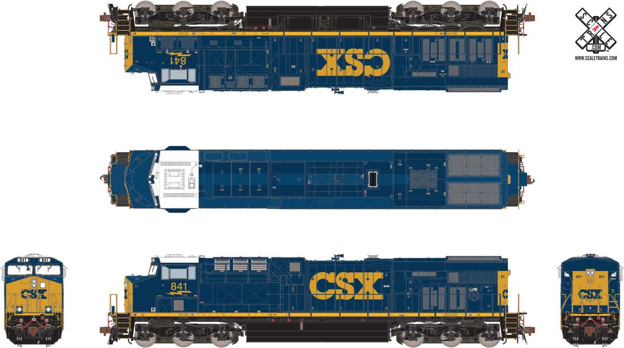 Scaletrains {SXT32594} GE ES44AH - CSX #884 ESU v5.0 DCC & Sound HO Scale