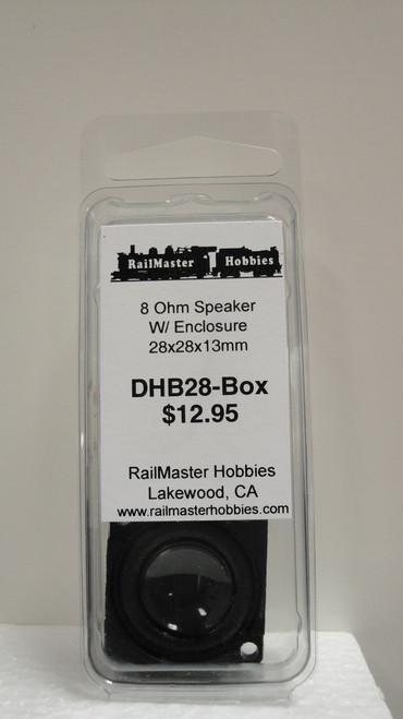 DHB28-BOX Rail Master / Speaker 28 mm Round 8 ohm 2 watt (Scale=HO) Part # = RMT-DHBH28-Box