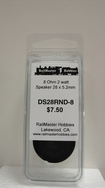 DS28RND-8 Rail Master / Speaker 28 mm Round 8 ohm 2 watt (Scale=HO) Part # = RMT-DS28RND-8