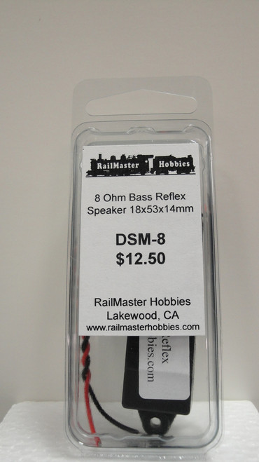 DSM-8 Rail Master / Speaker 18 X 53 X 14.3 MM 8 Ohm (Scale=HO) Part # = RMT-DSM-8