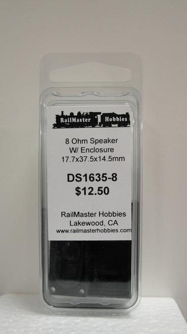 DS1635-8 Rail Master / Speaker 17.7 x 37.45 x 14.5 mm 8 Ohm (Scale=HO) Part # = RMT-DS1635-8