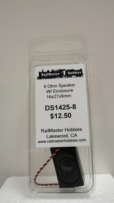 DS1425-8 Rail Master / Speaker Small TO USE in the loco CAB 8 Ohm (Scale=HO) Part # = RMT-DS1425-8