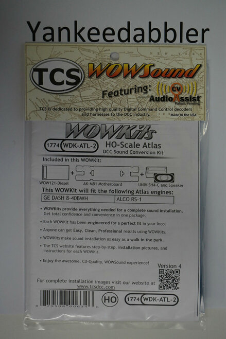 1774 TCS Train Control Systems /  WDK-ATL-2 DCC WOW Sound Cnvrsn (SCALE=HO) Part # 745-1774