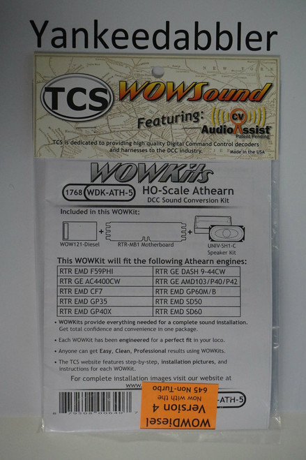 1768 TCS Train Control Systems /  WDK-ATH-5 DCC WOW Sound Cnvrsn (SCALE=HO) Part # 745-1768