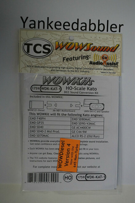 1759 TCS Train Control Systems /  WDK-KAT-1 DCC WOW Sound Cnvrsn (SCALE=HO) Part # 745-1759