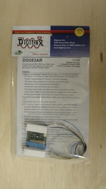 DG583AR Digitrax / Dcdr 5amp w/Aristo plug  (Scale = G)  Part # 245-DG583AR (SCALE=G)