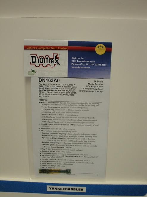 DN163A0 Digitrax / Plg N'Ply Dcd Atls GP40-2  (Scale = N)  Part # 245-DN163A0