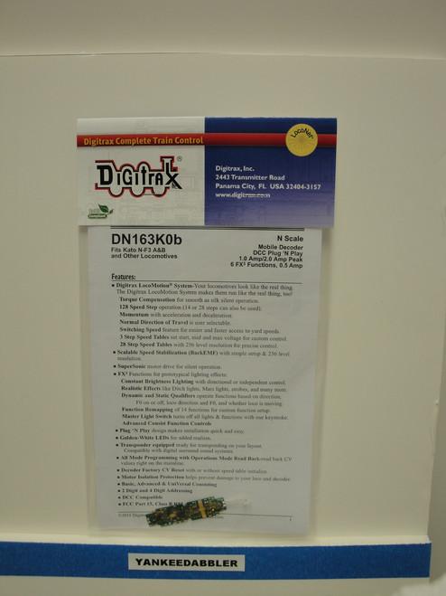 DN163K0B Digitrax / Plg N'Ply dcdr Kato F3A/B  (Scale = N)  Part # 245-DN163K0B