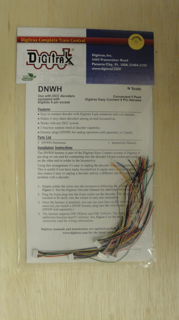 DNWH Digitrax / Wire Harness 5/  (Scale = ALL)  Part # 245-DNWH