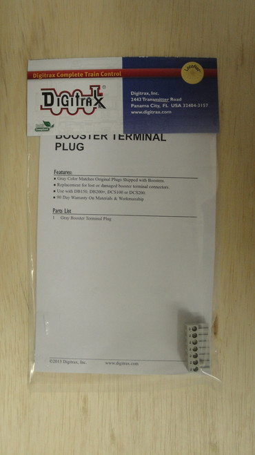 ACC-TERMPLUG Digitrax / Gray Terminal Plug  (Scale = ALL)  Part # 245-TERMPLUG