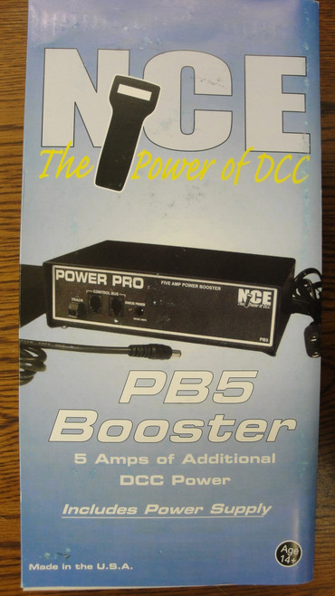 45 NCE /  PB5 Booster -- 5-Amp w/Power Supply (SCALE=ALL) Part # = 524-45
