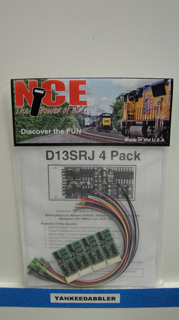 5 NCE /  D13SRJ DCC Control Decoder 1.3 Amp - (SCALE=HO) Part # = NCE125
