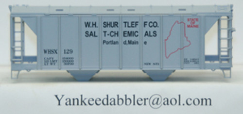 20100 (HO Scale) Yankee Dabbler-67-20100 W.H.Shurtleff Co    Salt-Chemical 70 Ton 2-Bay Cvrd Hopper 20100   129