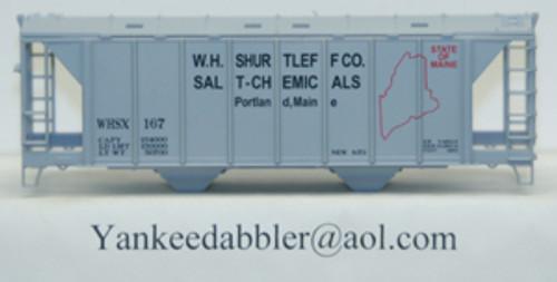 20102 (HO Scale) Yankee Dabbler-67-20102 W.H.Shurtleff Co    Salt-Chemical 70 Ton 2-Bay Cvrd Hopper 20102   167