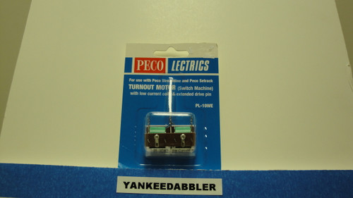 PL-10WE Peco / PL-10WE Twin Coil Switch Machine Extended Pin Low Current (SCALE=HO ) P Part #552-PL-10WE