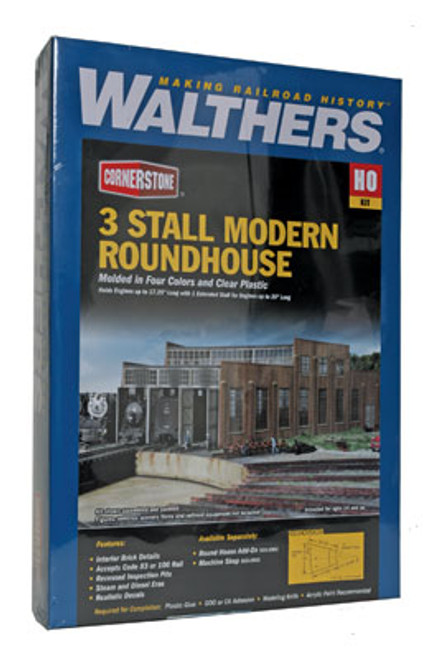 2900 Walthers 3-Stall Modern Roundhouse (Scale=HO) Cornerstone Part#933-2900