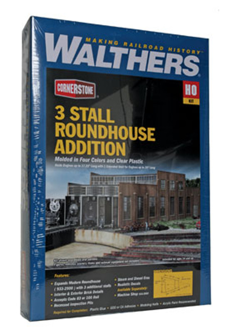 2901 Walthers 3-Stall Modern Roundhouse Addition (Scale=HO) Cornerstone Part#933-2901