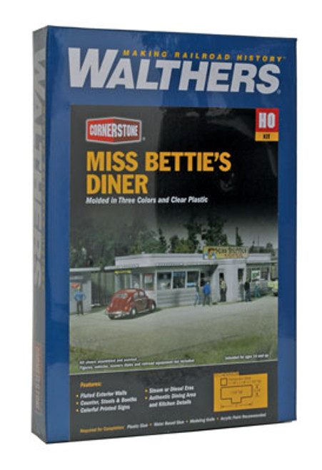 2909 Walthers  Miss Bettie's Diner (Scale=HO) Cornerstone Part#933-2909